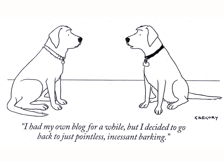 New Yorker talking dogs